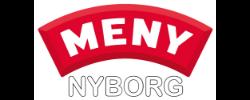 MENY Nyborg hvid skrift
